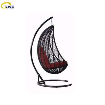 Factory price outdoor patio synthetic rattan swing chair