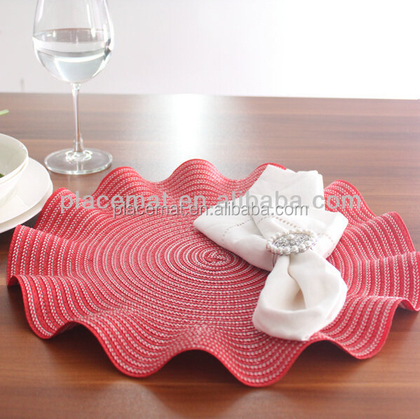 2015 Hot Wholesale Woven PP Plastic place mats