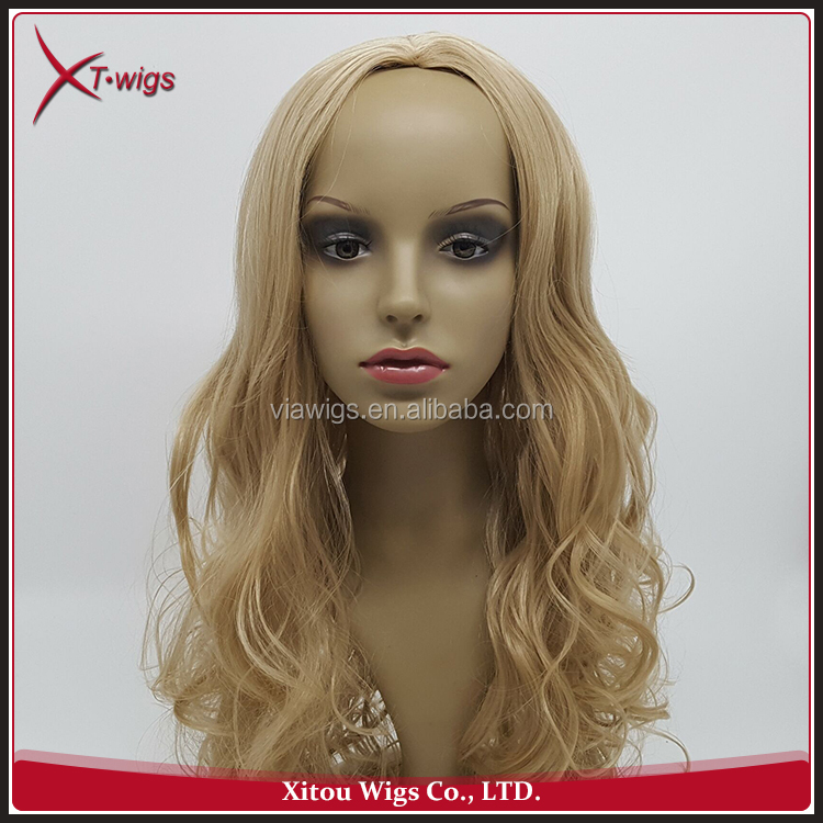 Wholesale African American Woman Fashion Wavy Hair Blonde Wig