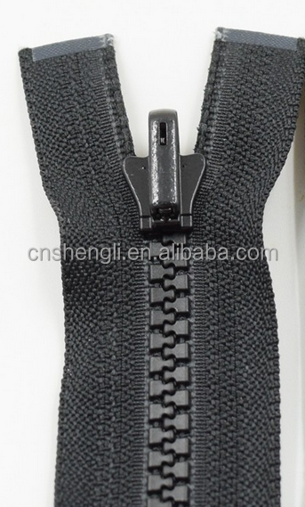 5# plastic revisible zipper/cierre open end non-lock