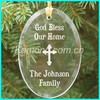 Gold bless crystal christmas gifts for the family