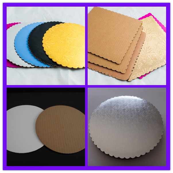 grease resistant high white coated cake boards cake pads