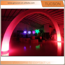 Event decorations advertising outdoor led light inflatable arch