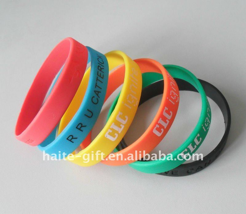 New style silicone wristbands for festivals