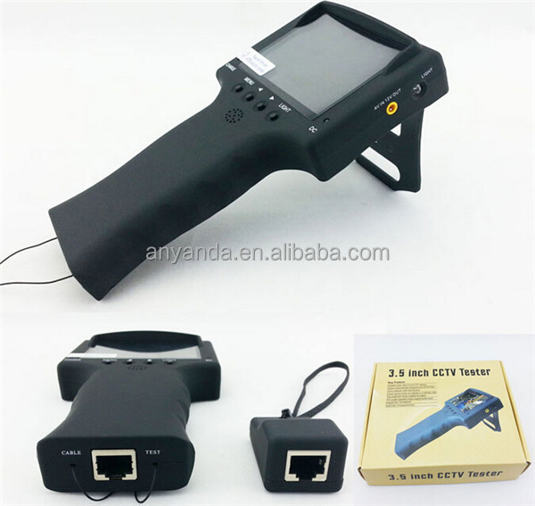 "Cheapest multi-function 3.5"" LCD cctv AHD 1080p tester"