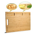 Thick Organic Bamboo Cutting Board With 3 Juice Grooves