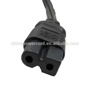 UL approval polarized c7 connector power cords for TV with 18awg wire
