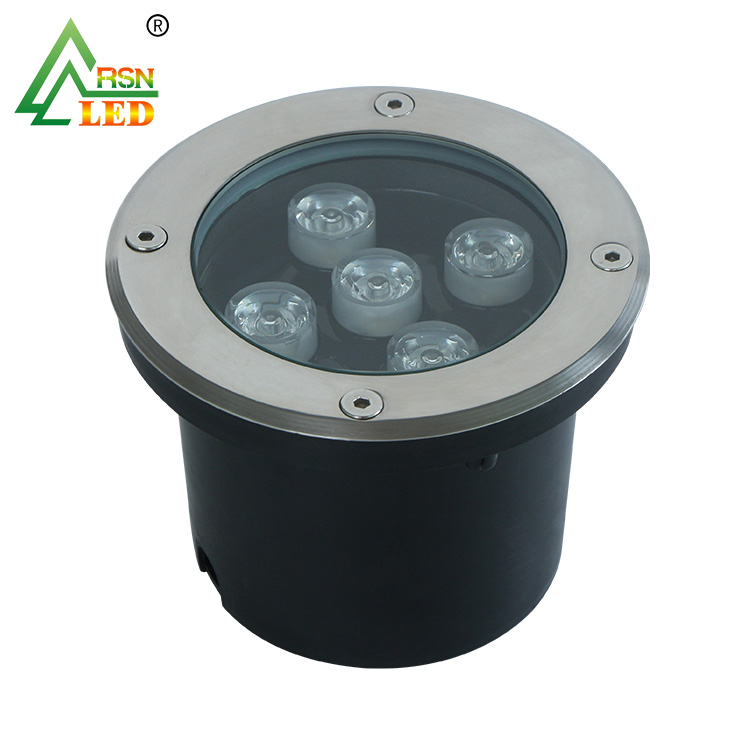 Round aluminum alloy body IP67 waterproof 5w <strong>led</strong> underground <strong>light</strong>