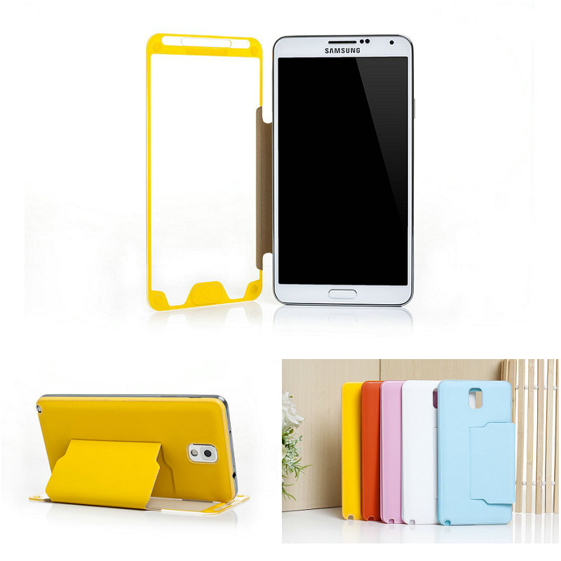 Full screen touch folio leather case for samsung galaxy note 3/N9000