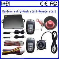 Passive Keyless Entry PKE Push Start Car Alarm