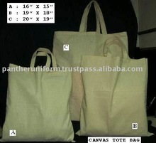 Recycle canvas tote bag with self handle