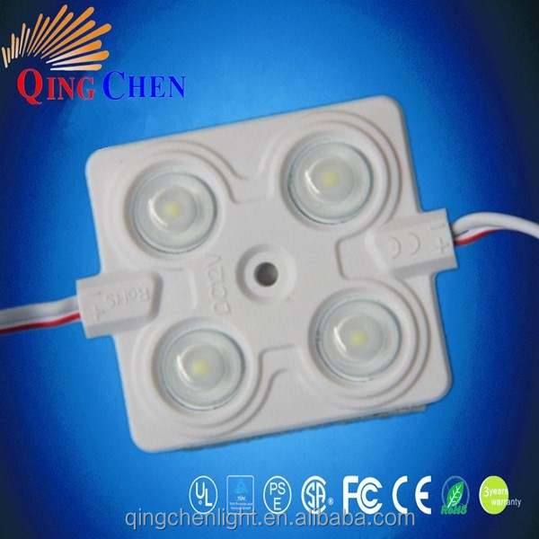 2.4w smd2835 5050 4leds led injection module DC12V ip65 waterproof ABS