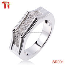 925 sterling silver ring inlay diamond,silver ring designs for girl