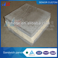 Friendly lightweight construction material sound heat insulated PU Foam cement sandwich panel ( for prefabricated house) panel