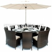 synthetic white rattan outdoor furniture round