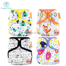for girls! hot cute diaper cover leak guard double snaps baby cloth diaper with microfiber insert