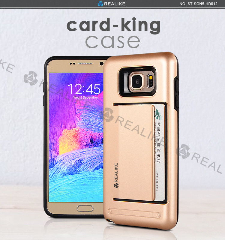 New arrival pc+tpu for samsung galaxy note5 smart phone cover