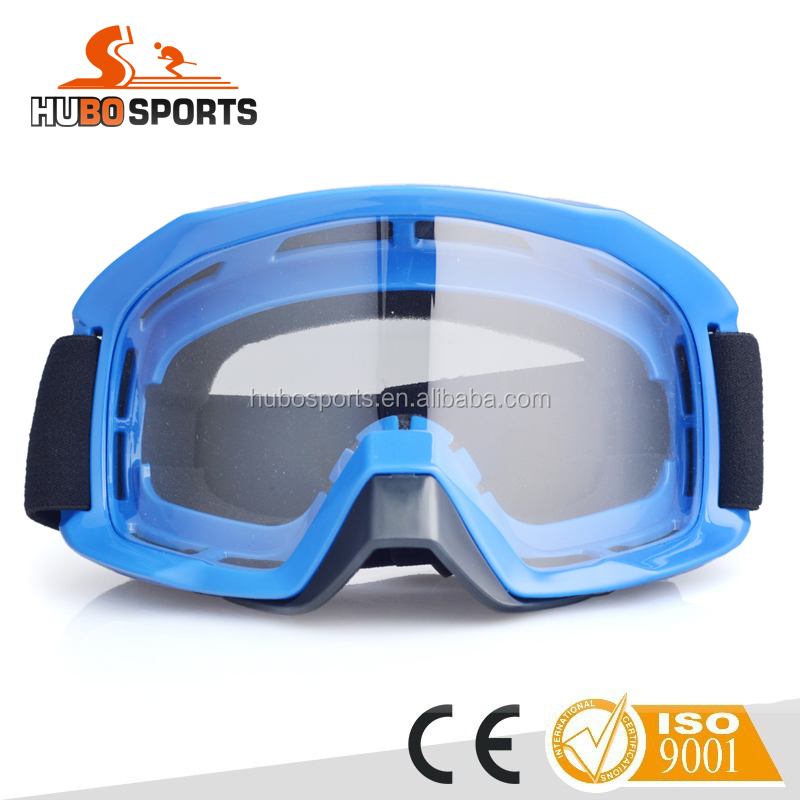 Safety outdoor clear lens anti-slip silicone strap helmet compatible dustproof motorcross goggles HB-186