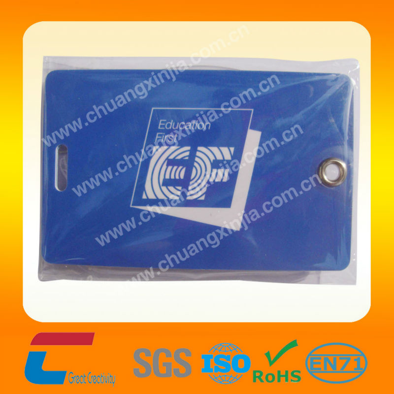 ChuangXinJia Logo Branded Plastic Luggage Tag