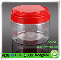clear plastic shallow cylinder container for candy/sweet resale