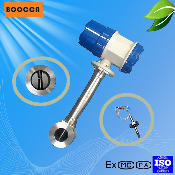 China BOOCCA clamp type, plug-in,flange vortex flow meter