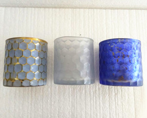 Different Patterns Color Cylinder Birthday Candle Holder