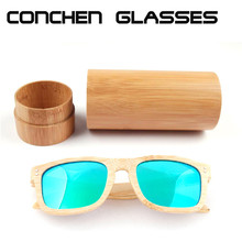 Online wholesale cheap handmade round bamboo glasses case