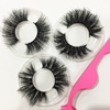 Full Strip Lashes long dramatic 3d Mink Eyelashes Private Label 25mm eyelashes