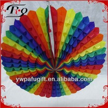 party decoration colorful tissue paper fan