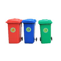 Large plastic trash can/Use dustbin
