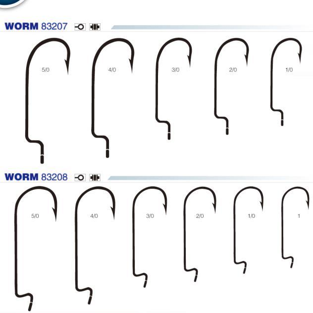 Wholesale high carbon steel worm fishing hook buy for Fishing hook sizes for bass