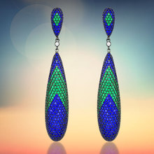 925 Sterling Silver Earrings With Colorful Zircon CZ Fashion Jewelry for Woman (BMSLE-127)