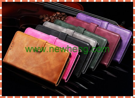 book style card slots PU leather mobile phone case for SAMSUNG Galaxy Note 4 N9100