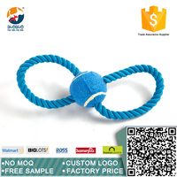 The most popular cotton rope pet toy with ball for dog training