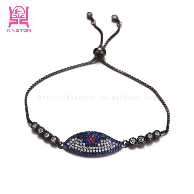 fashion evil eye zircon bracelet evil eye tennis bracelet