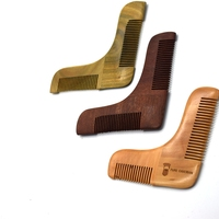 Private Labeling beard comb beard styling shaper tool comb sandalwood