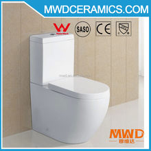Certificated Water Ratting Two Piece Wash Down Ceramic Australian Watermark Toilet