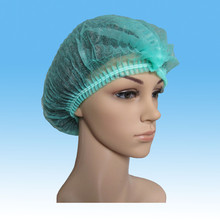 Disposable non-woven decorative colored hair nets