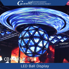 Hanging Installed Nightclub Led Video Sphere Display with 3D Light effects