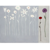 Simple Wild Flower Canvas Oil Painting Artwork Wall