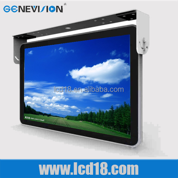 metal Flip Down Powerful usb port flat <strong>screen</strong> bus tv monitor