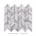 2017 Beautiful Chevron Gray White Marble Mosaic Tiles