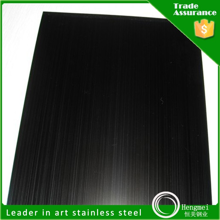 manufacturing 201 hairline wet polish finish stainless steel board for five star hotel