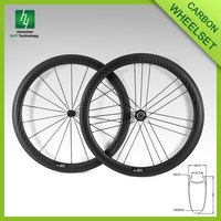 700C 50mm depth 25mm width Clincher 3K/12K matte Carbon Road Bike Wheelset
