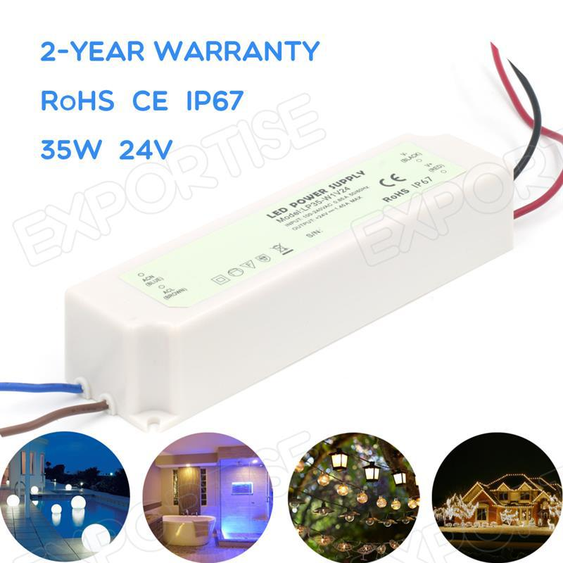 2 year warranty constant voltage meanwell led power driver 35w