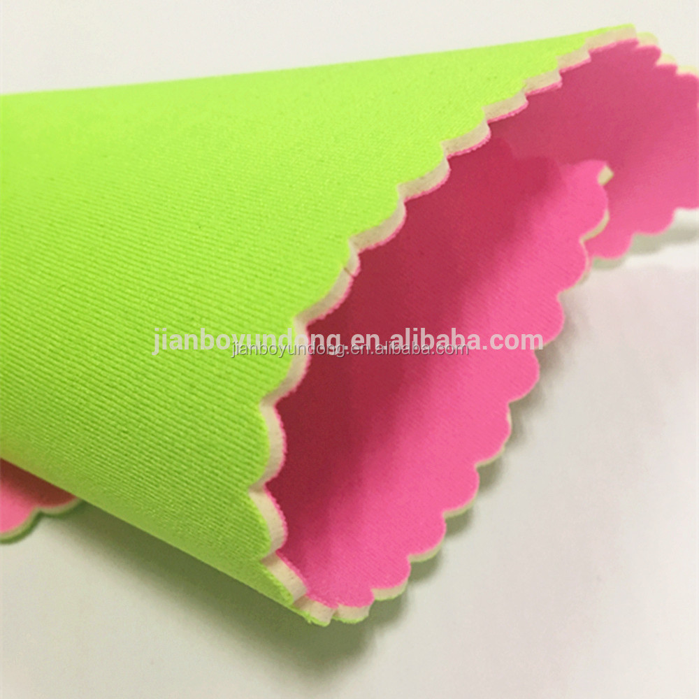 hot sale non-poisonous and environmental face mask neoprene laminate sheet 1mm elastic nylon fabric