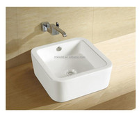 CB-45049 foshan bathroom porcelain with single wall mounted faucet above counter wash basin, wash basin price