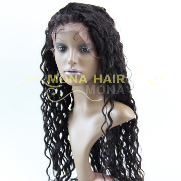 Glueless Human Hair Blonde Silk Top Full Lace Wig