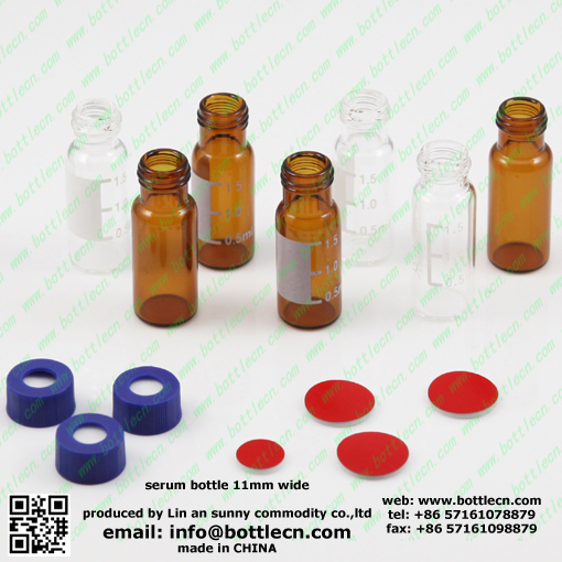 clear amber headspace screw crimp autosampler vial for laboratory