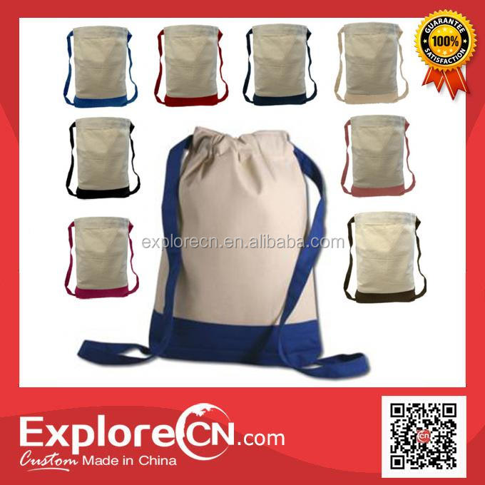 High Quality canvas drawstring backpack bag for girls